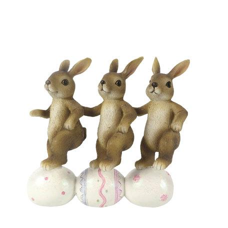 Decoratie konijnen 14*5*13 cm Multi | 6PR3250 | Clayre & Eef