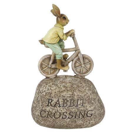 Decoratie konijn fietsend 13*6*20 cm Multi | 6PR3253 | Clayre & Eef