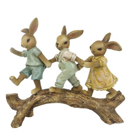 Decoratie konijnen 16*4*13 cm Multi | 6PR3262 | Clayre & Eef