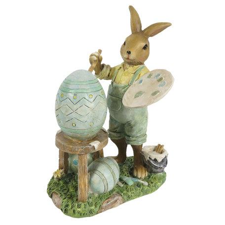 Decoratie konijn 11*7*15 cm Multi | 6PR3278 | Clayre & Eef