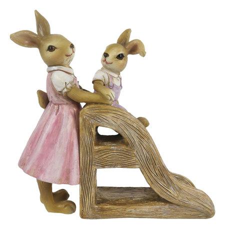 Decoratie konijnen 14*6*15 cm Multi | 6PR3280 | Clayre & Eef