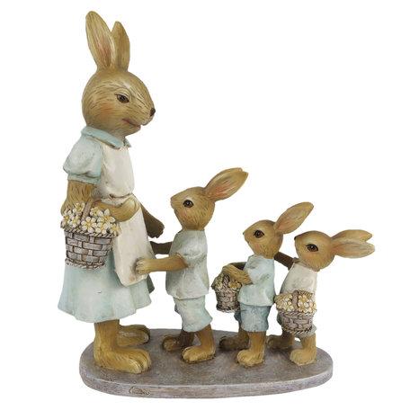 Decoratie konijnen 17*7*19 cm Multi | 6PR3285 | Clayre & Eef