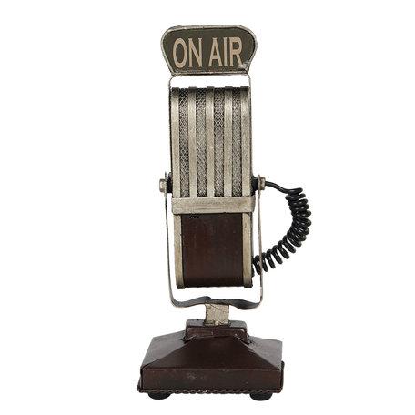 Decoratieve model microfoon 9*9*24 cm Zwart   6Y4258   Clayre & Eef