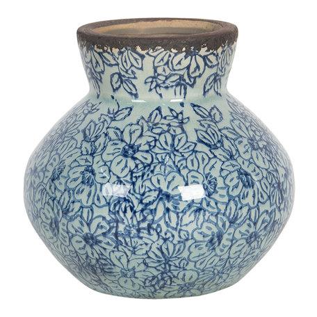 Decoratie vaas ø 14*13 cm Blauw | 6CE1207 | Clayre & Eef