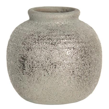 Decoratie vaasje ø 8*8 cm Bruin | 6CE1219 | Clayre & Eef