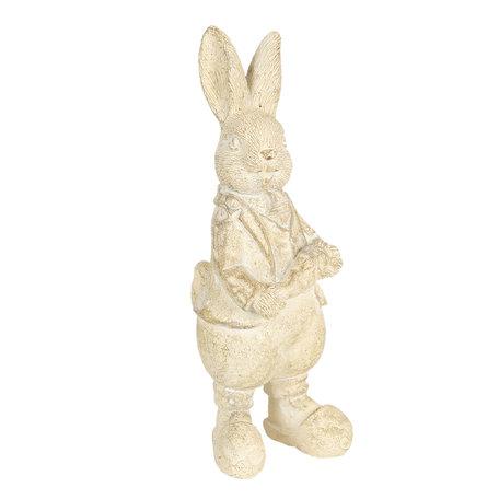 Decoratie konijn 6*6*13 cm Wit | 6PR3096W | Clayre & Eef
