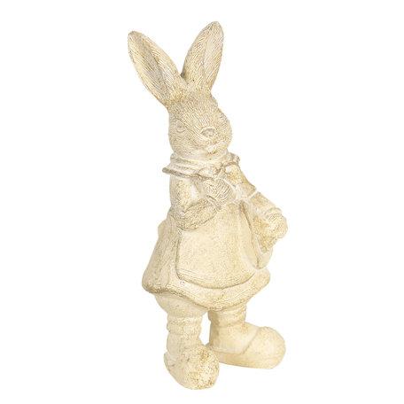 Decoratie konijn 6*6*13 cm Zilverkleurig | 6PR3097W | Clayre & Eef