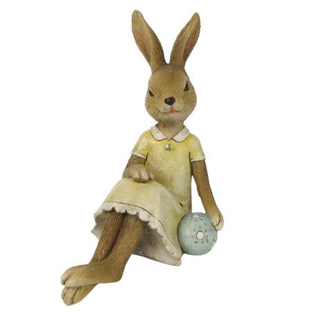 Decoratie konijn 10*6*12 cm Geel | 6PR3259 | Clayre & Eef