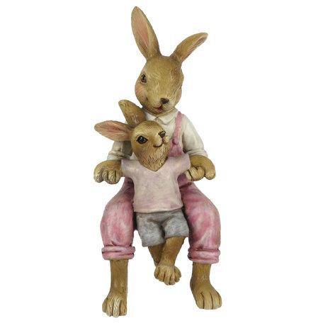 Decoratie konijnen 6*6*15 cm Roze | 6PR3263 | Clayre & Eef