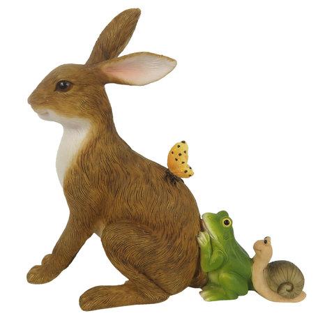 Decoratie konijn 14*5*13 cm Bruin | 6PR3270 | Clayre & Eef