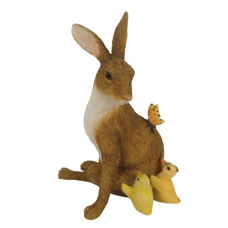 Decoratie konijn 10*7*13 cm Bruin | 6PR3271 | Clayre & Eef