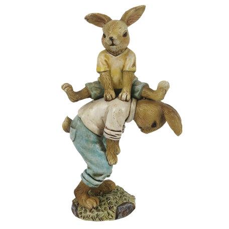 Decoratie konijnen 9*4*15 cm Multi | 6PR3275 | Clayre & Eef