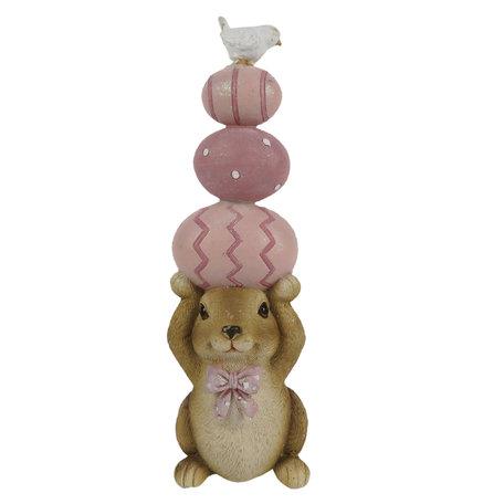 Decoratie konijn 7*6*19 cm Multi | 6PR3281 | Clayre & Eef
