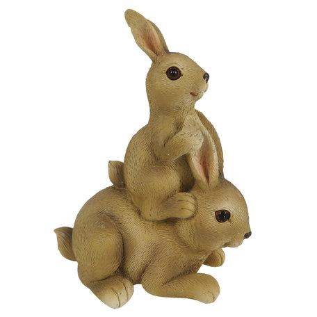 Decoratie konijnen 10*6*12 cm Bruin | 6PR3282 | Clayre & Eef