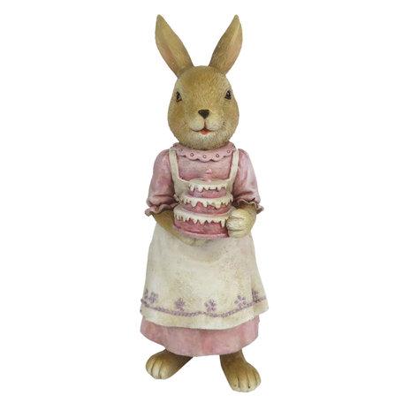 Decoratie konijn 8*7*19 cm Roze | 6PR3292 | Clayre & Eef