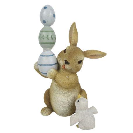 Decoratie konijn 8*7*14 cm Multi | 6PR3323 | Clayre & Eef