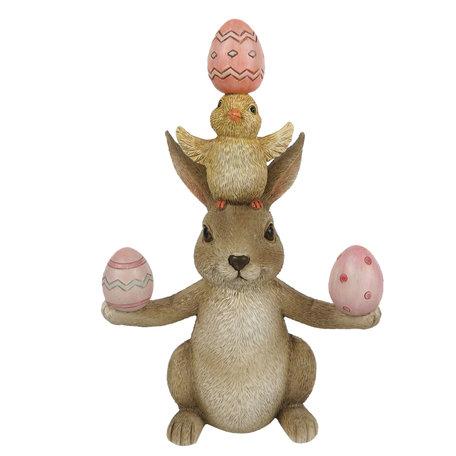 Decoratie konijn 11*6*16 cm Multi | 6PR3329 | Clayre & Eef