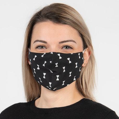 Mondmasker fashion 13*26 cm Zwart | FM0006 | Clayre & Eef
