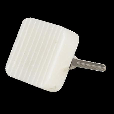 Deurknop 3*3 cm Wit | 64695 | Clayre & Eef
