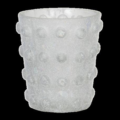 Waxinelichthouder ø 8*8 cm Wit   6GL2957   Clayre & Eef