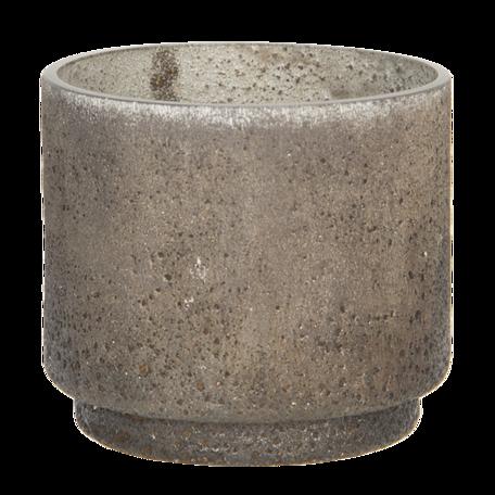 Waxinelichthouder ø 8*6 cm Bruin   6GL2987   Clayre & Eef