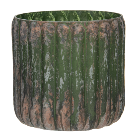 Waxinelichthouder ø 11*11 cm Groen | 6GL2990 | Clayre & Eef