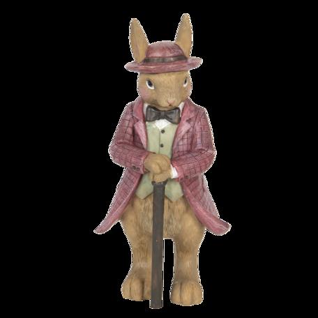 Decoratie konijn 8*8*19 cm Multi | 6PR3260 | Clayre & Eef