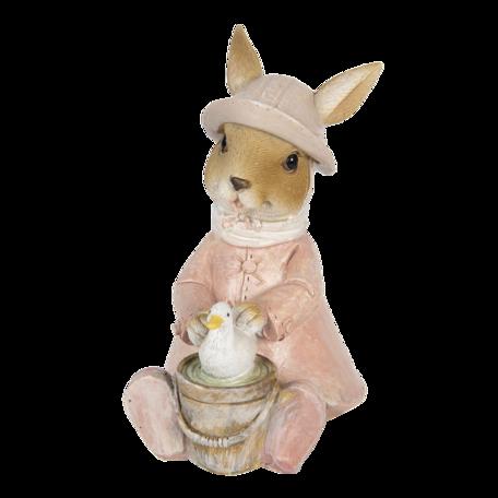 Decoratie konijn 9*6*12 cm Roze | 6PR3301 | Clayre & Eef