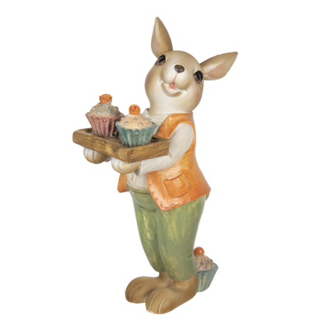 Decoratie konijn 11*6*16 cm Multi | 6PR3303 | Clayre & Eef