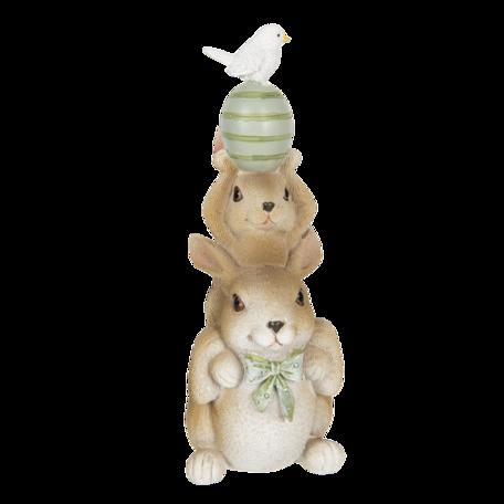 Decoratie konijnen 8*6*17 cm Multi | 6PR3315 | Clayre & Eef