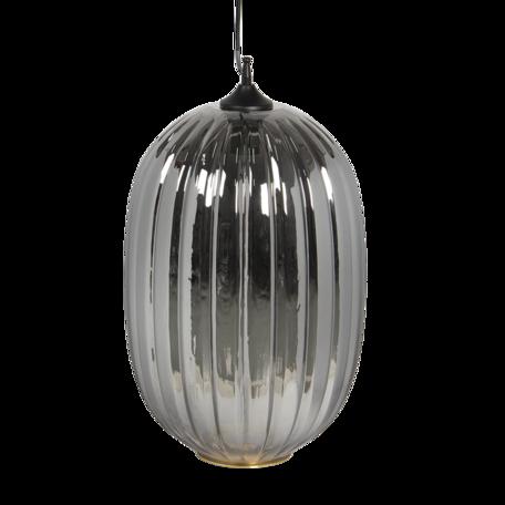 Hanglamp met lamp ø 32*55/160 cm E27/max 1*40W Grijs   5LMP338G   Clayre & Eef