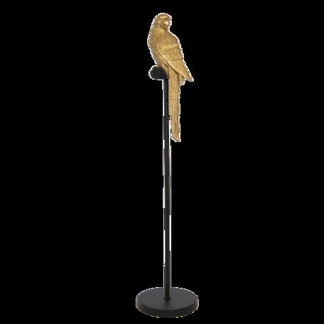 Decoratie papegaai ø 22*107 cm Goudkleurig | 5PR0066 | Clayre & Eef