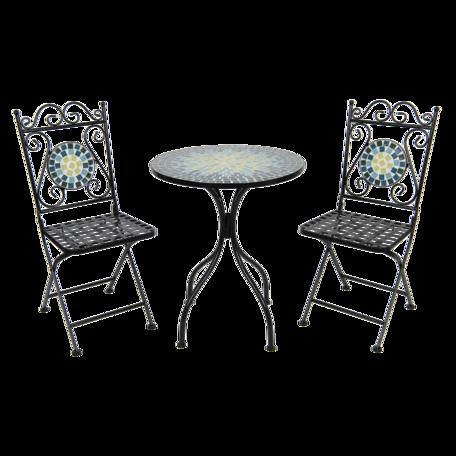 Bistroset tafel + 2 stoelen ø 60*72 cm / 36*35*91 cm Multi | 5Y0768 | Clayre & Eef