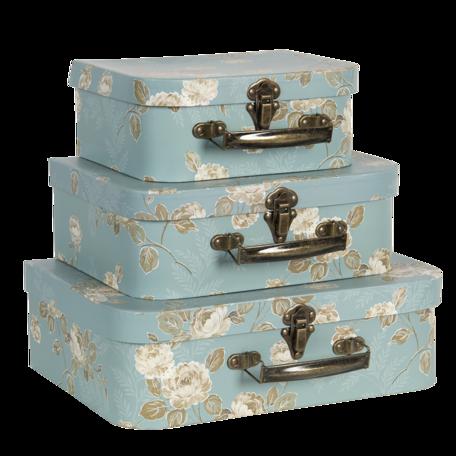 Decoratie koffer (set van 3) 30*21*9/25*18*9/20*16*8 cm Multi | 64753 | Clayre & Eef