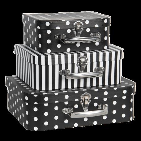 Decoratie koffer (set van 3) 30*21*9/25*18*9/20*16*8 cm Multi | 64758 | Clayre & Eef