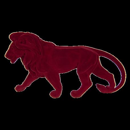 Decoratie leeuw 43*11*24 cm Rood | 6FU0013 | Clayre & Eef