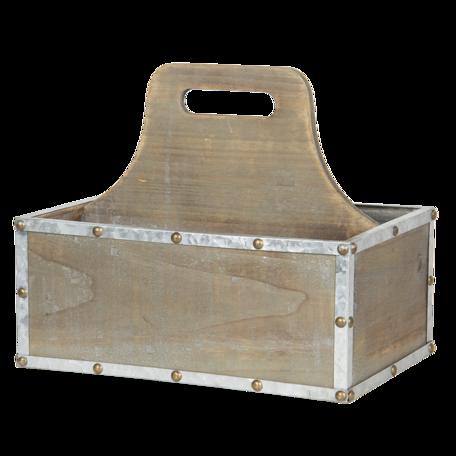 Vakkenbak 28*19*24 cm Bruin | 6H1969 | Clayre & Eef