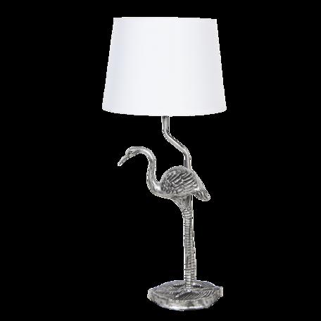 Tafellamp ø 25*58 cm E27 Zilverkleurig   6LMC0028   Clayre & Eef