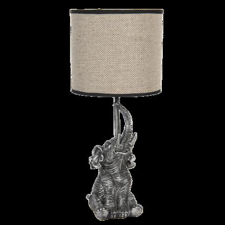 Tafellamp ø 20*45 cm / E27 Grijs   6LMC0030   Clayre & Eef