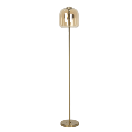 Vloerlamp met lamp ø 24*135 cm LED Bruin | 6LMP707 | Clayre & Eef
