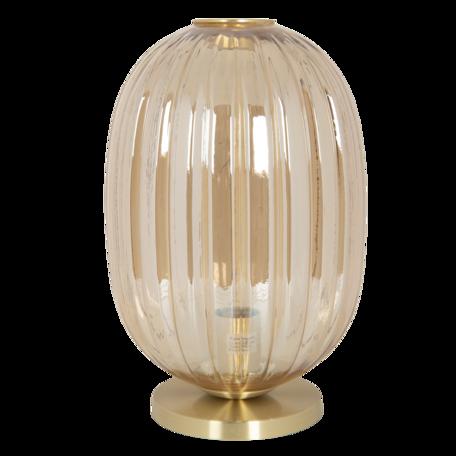Tafellamp met lamp ø 20*35 cm E14/max 1*40W Bruin   6LMP709CH   Clayre & Eef