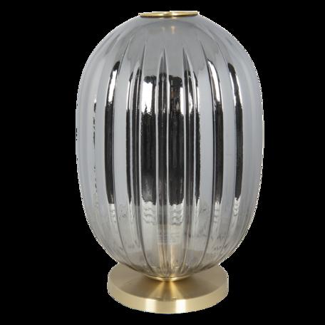 Tafellamp met lamp ø 20*35 cm E14/max 1*40W Grijs   6LMP709G   Clayre & Eef