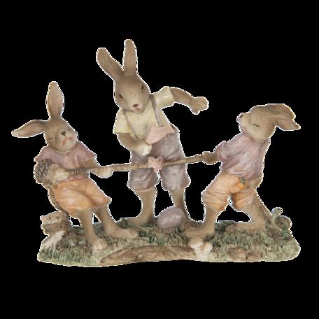 Decoratie konijnen 20*7*15 cm Multi | 6PR3307 | Clayre & Eef