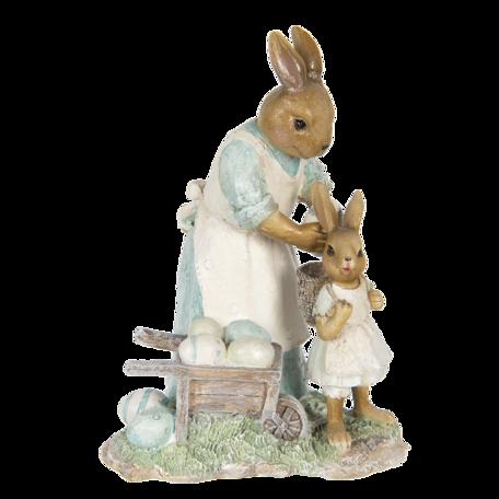 Decoratie konijnen 15*11*20 cm Multi | 6PR3308 | Clayre & Eef