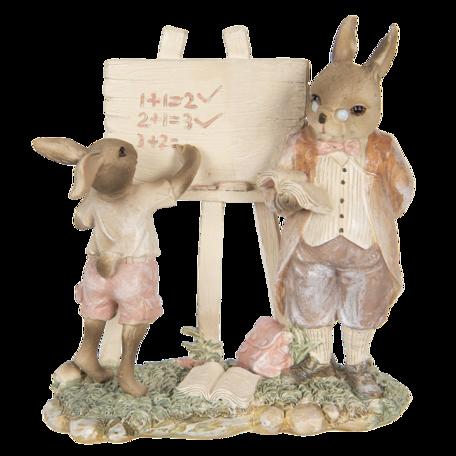 Decoratie konijnen 18*9*19 cm Multi | 6PR3309 | Clayre & Eef