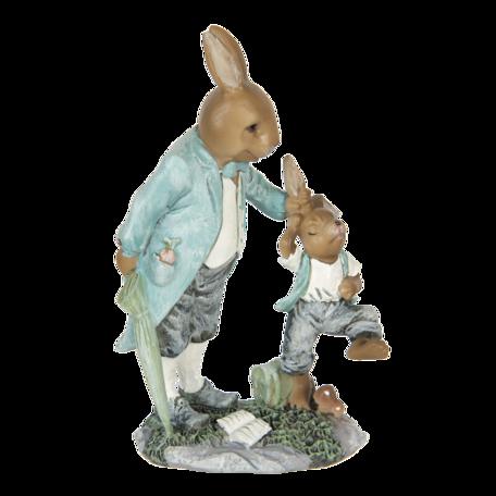 Decoratie konijnen 12*7*19 cm Multi | 6PR3311 | Clayre & Eef