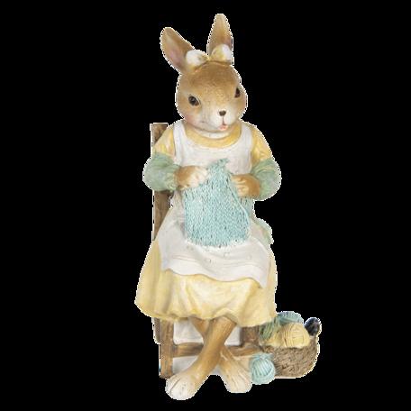 Decoratie konijn 9*8*18 cm Multi | 6PR3313 | Clayre & Eef