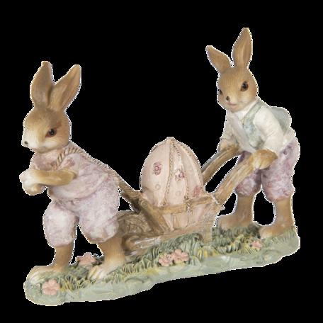 Decoratie konijnen 16*5*12 cm Multi | 6PR3314 | Clayre & Eef