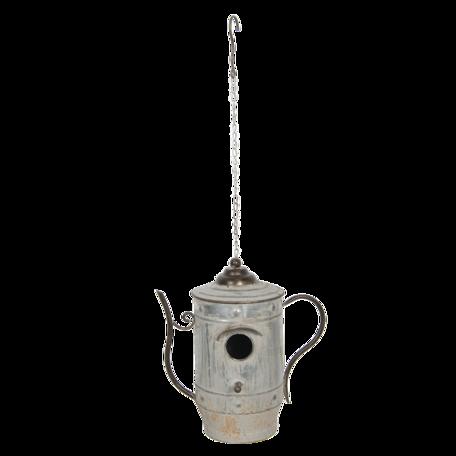 Decoratie Vogelhuis 32*20*33 cm Grijs | 6Y4136 | Clayre & Eef