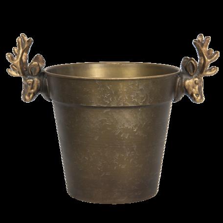 Decoratieve ijsemmer 36*23*28 cm Bruin | 6Y4206 | Clayre & Eef